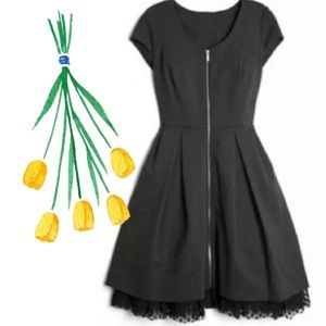 Kirna Zabete at Target Slate Gray ZIP Front Dress